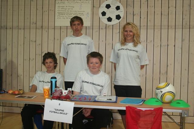 Entreprenørskapsmesse 2011 Elevverksemd Gaupne fotballskule