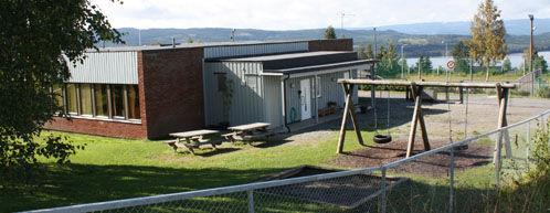 Et bilde av Aasen barnehage med utsikt over Næra