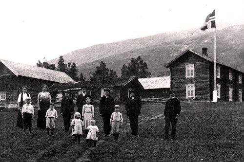 Garden Skjølsvold som Ole.J. Skjølsvold bygde opp