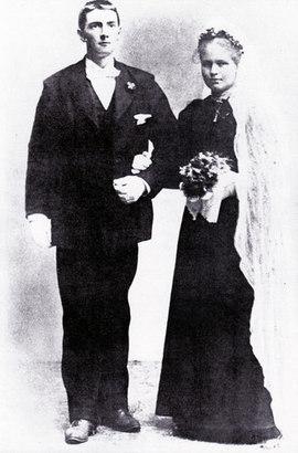 Anna Marie og Johan Falkberget 1899
