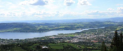 View of Lake Mjøsa