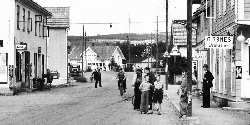 Tidligere Brumunddal sentrum