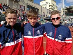 Jo, Jonas og Jørgen etter mål.