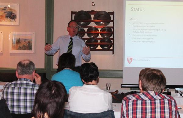 Rådmann Jørn Strand på rammekonferansen.