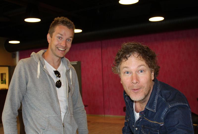 Paul Håvard Østby og Gustav Nilsen i Teatersalen