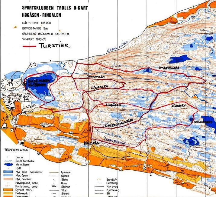 turstier kart Kart over nye turstier i Rindal   Trollheimsporten turstier kart