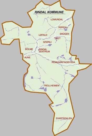 kart over surnadal Kart over Rindal   Trollheimsporten kart over surnadal