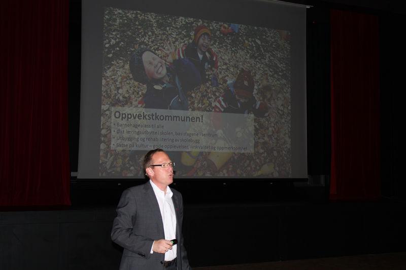 Skole står sentralt i strategien for vekst og utvikling, sa rådmann Jørn Strand.