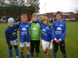 Rindals G11 2: Tobias, Jonas, Marcus, Emil og Sondre.