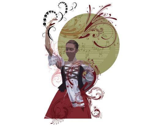 illustrasjon til Czardas av Monica Westvold
