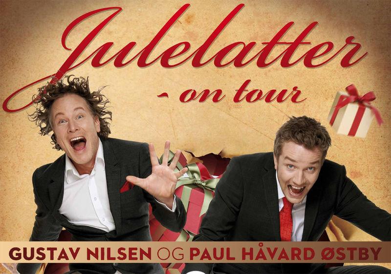 Gustav Nilsen og Paul Håvard Østby med showet Julelatter.