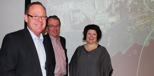Rådmann Jørn Strand, kommunalsjef Ole Martin Hermansen og ordfører Anita Ihle Steen.
