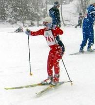 Else Helmine Myklegard i snøværet