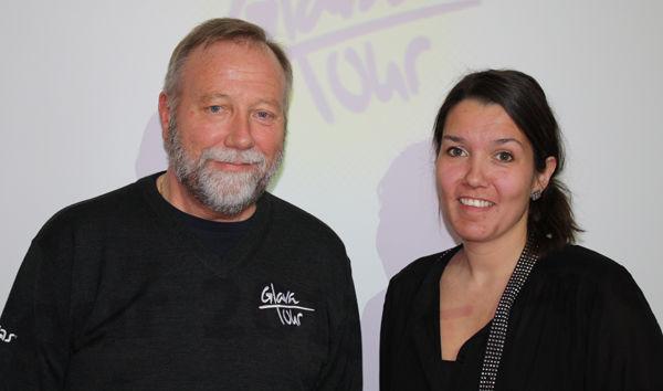 Bjørn Erik Tuv (Glava Tour) og Monica Olsen
