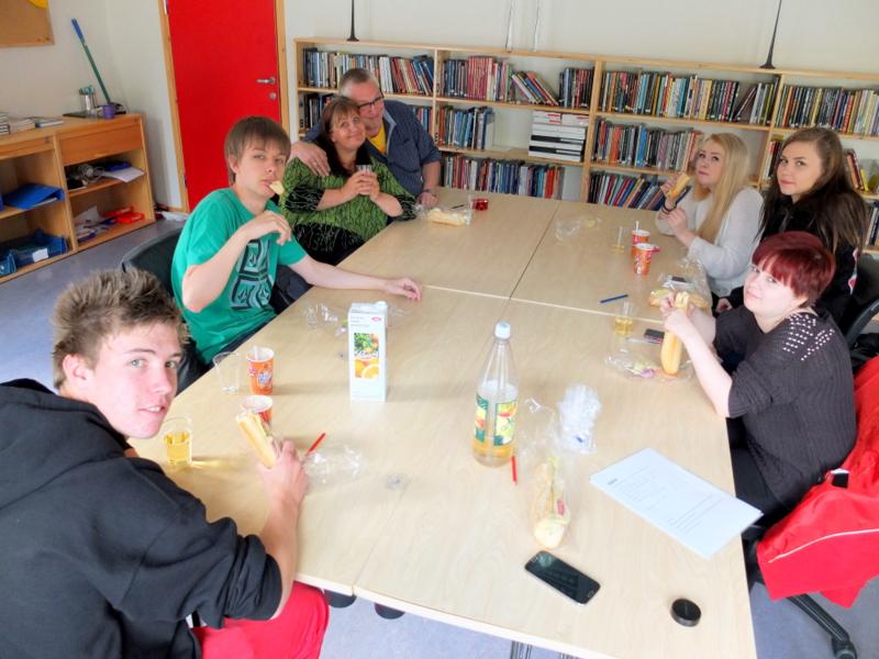 Skolelunsj på Berg montessoriskole
