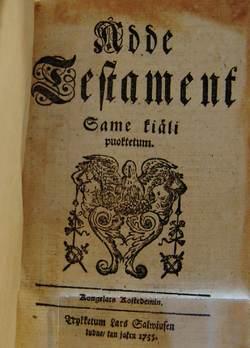 Nye testamente fra 1755