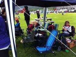 Vi hadde med mange stoler, men de var lite i bruk under kampene!