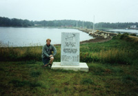 Memorial stone on Oak Island - Stein Morten Lund