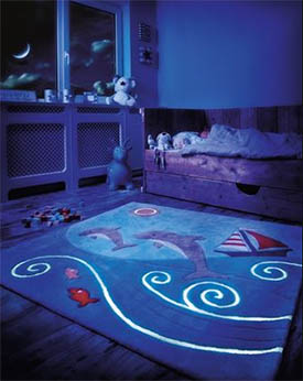 Teppeabo har tepper som lyser om natten.