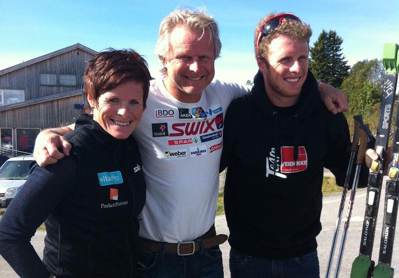 Hilde Gjermundshaug Pedersen, Åge Skinstad og Petter Skinstad.