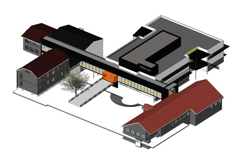 Skisse av nye Mørkved skole.