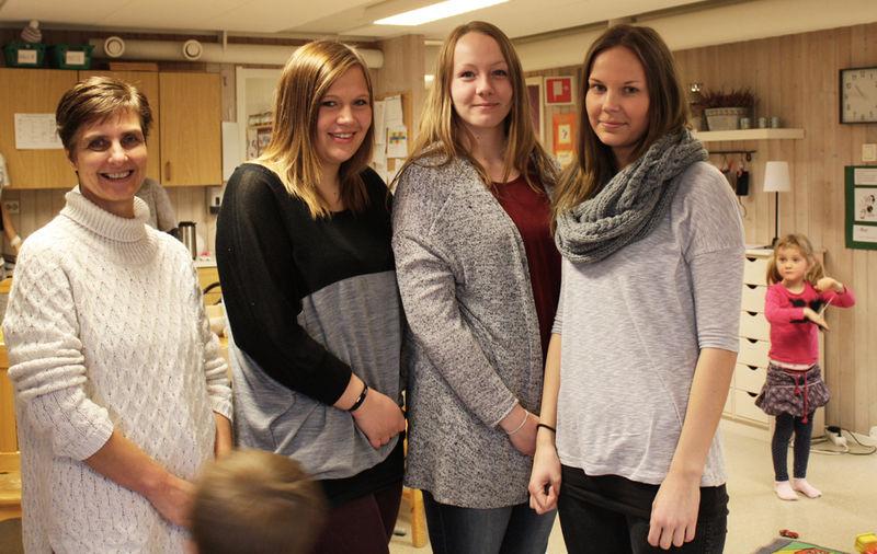 Hilde Arnesen, Line Kroken, Charlotte Bjørnbakken og Mette Kjeldsen.