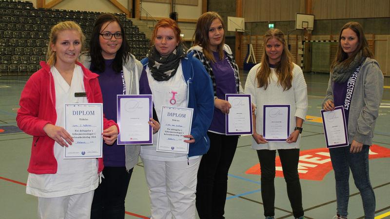 Lærlingene som deltok i fylkesmesterskapet.