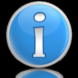 Infosymbol blå