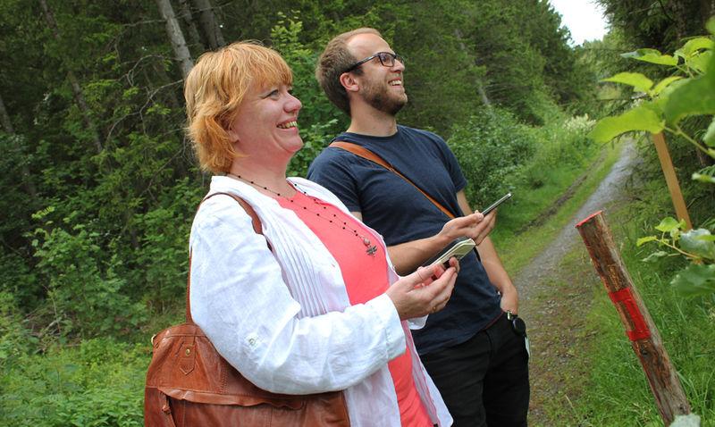 Fylkesråd Anne Karin Torp Adolfsen og rådgiver Amund Steinbakken fra Hedmark fylkeskommune.