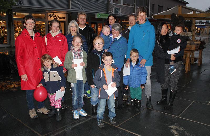 Vinnerne av premier etter 10 topper i Ringsaker 2014.