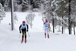 Sigurd Fagerholt, Rindal IL til høyre, Håkon Holstad, Heimdal Ski til venstre