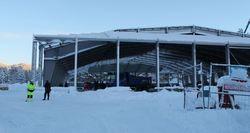 Byggeplassen 22. desember. (Foto: Trollheimsporten.no)