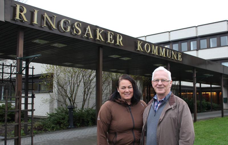 Idrettskonsulent Line Kongssund og leder av idrettsrådet Arnfinn Nes.