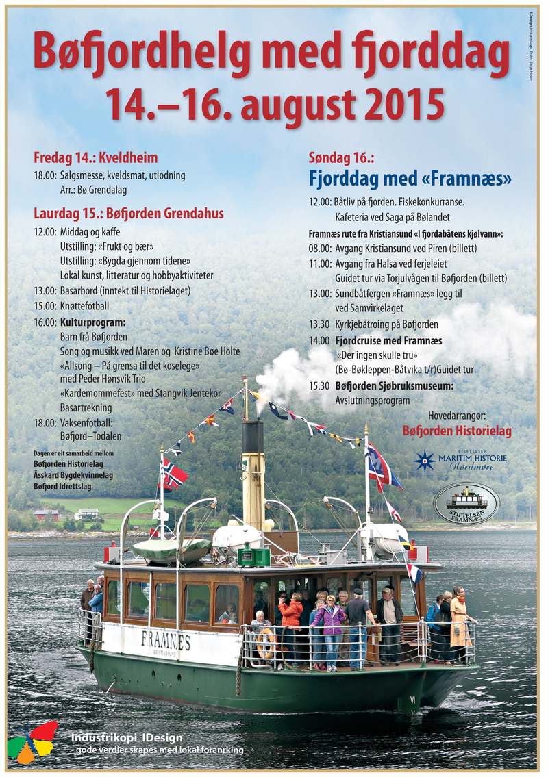 NT Bøfjordhelg 2015 Plakat