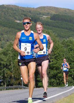 Trond Ørjan Eide og Mats Bjørgum, begge Strindheim, nr 2 og 1 i mål.