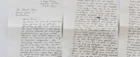 A Letter from Joyce to Ibsen. Forfalskning av originalt brev. 2015