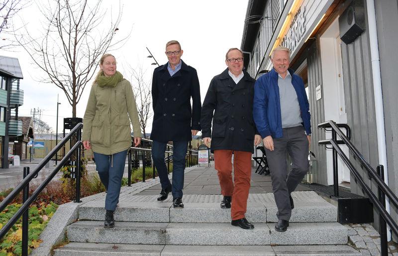 Trude Bergundhaugen, Tor Rullestad, Jørn Strand og  Erik Slaatsveen.