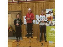 Nora Bolme Fjærsted ble nr 3 i klasse jenter 12 var Rindal ILs andre på pallen. Den tredje og siste var Lars Hoel Moholdt med en tredjeplass i klasse menn senior.