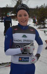 Vinner av kvinneklassen i Rindalsrennet 2015; Wenche A Snildalsli