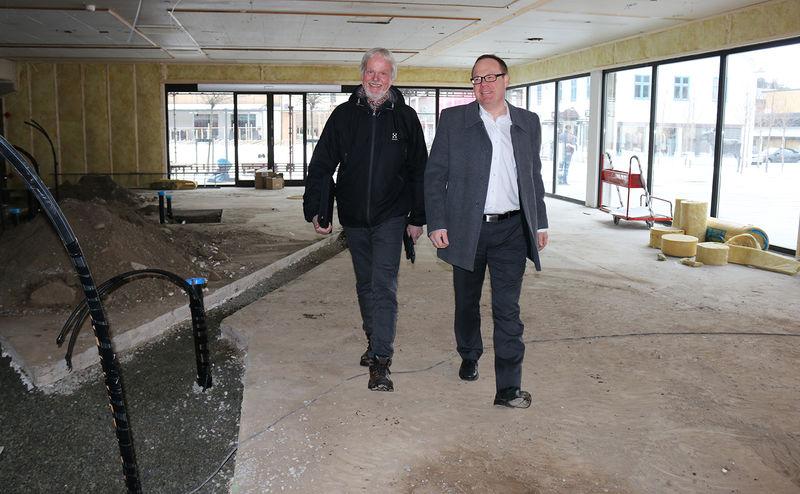 Erik Tangen og Jørn Strand i lokalene til Matfatet.