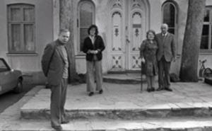 De som startet Galleri F 15. Fra venstre: Lars og Ellen Brandstrup og Niels og Agnete Brandstrup. Foto fra Moss Avis arkiv.