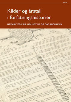 Kilder og årstall i forfatningshistorien