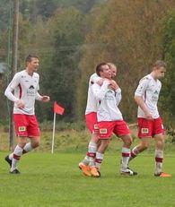 Brage har akkurat satt inn 2-1 mot Nidelv. Foto: Trollheimsporten.no