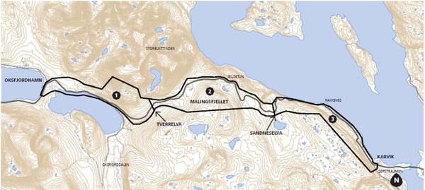 kvænangsfjellet kart Høring og offentlig ettersyn av områderegulering for E6  kvænangsfjellet kart