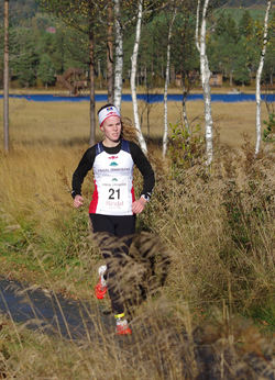 Startnr 21 Mali Røen SKjermo, Rindal IL (K Junior)