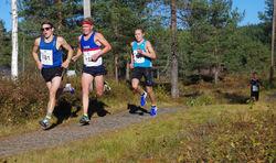 Startnr 181 Birk Nagell Skogland, Haugesund Triathlon, startnr 182 Casper Stornes, Ask Friidrett, startnr 177 Simen Halle Haugen, IL Runar og startnr 179 Lars Lunde, Stord IL, alle menn junior