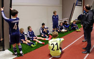 Vestbyen IL på treningssamling i Rindalshallen. Foto: Trollheimsporten.no