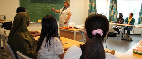 Lærer og deltakere i klasserom