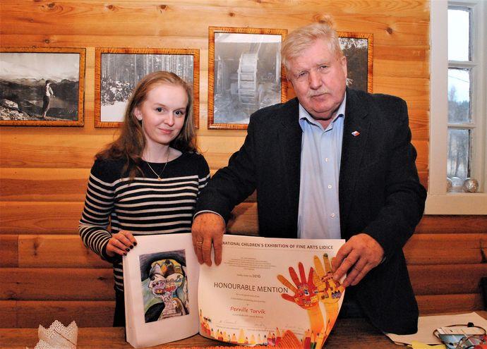 Pernille Kvande og konsul Oddvar Karlsen