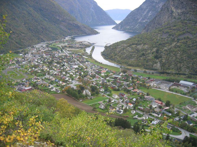 Utsikt over Lærdal